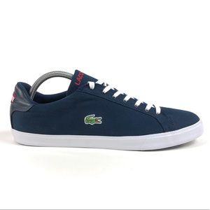 Lacoste Grad Vulc FC Ortholite Blue Canvas Shoes